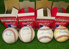 Lot (4) Official Major Leage Baseballs Orioles Autographs Matt Nokes Greg Olson