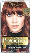 L'Oreal Superior Preference Paris Lumiere Hair Color # 6AB CHIC AUBURN BROWN NEW