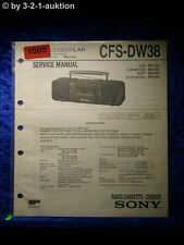 Sony Service Manual CFS DW38 Cassette Recorder (#1005)