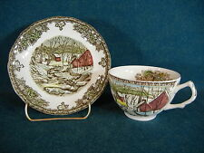 Johnson Brothers The Friendly Village Cup and Saucer Set(s) - Ice House England