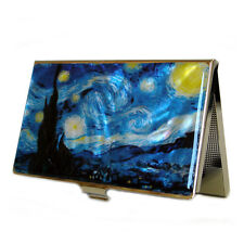 Mother of Pearl Van Gogh Starry Night Business Credit Name ID Card Case Holder