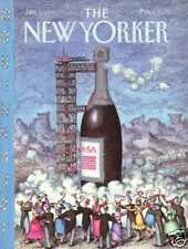 New Yorker COVER 01/01/1990 Champagne Rocket O'BRIEN