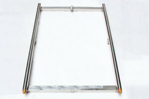 New  Heavy Duty Stainless Camera Dolly Track 1 Meter +Track in Bag 4 up to 300kg