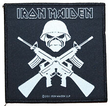 IRON MAIDEN - Patch Aufnäher - Crossed guns 10x10cm