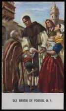 """santino-holy card""""S.MARTINO DE PORRES 10"""