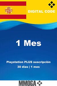 Tarjeta Playstation Plus 1 mes 30 Días - PS3 PS4 PS5 Digital Código - solo ES