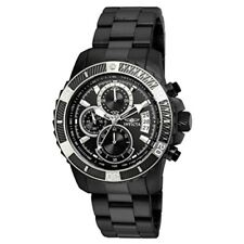 Reloj de cuarzo invicta Para hombres Pro Diver Acero Negro Pulsera analógico y Estuche 22417