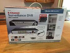 8 Channel Security Surveillance DVR w/ 4 Cameras Mobile Monitor NIB Bunker Hill