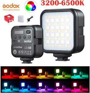 Godox LED 6R RGB Led Video Light 3200K-6500K for Camera SLR Video Vlogger Photo