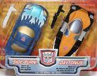Transformers RID Side Burn & Daytonus Autobot Hasbro new on Card approx 3in 1/64