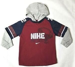 Nike Boys Hoodie Burgundy Blue Gray White Size 6