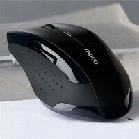 HOT 2.4GHz Wireless Optical USB Gaming Mouse Mice For Computer PC Laptop Black