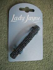 Lady Jayne Beaded Barrette,Bluey/Grey,hair slide,ponytail,hair accessories,#6