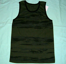 Military Dark Green Camo Tank Top Tactical Army Camouflage Shirt - 2XL - NWT