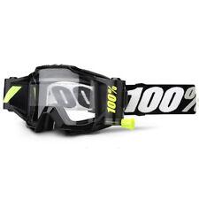 2018 100% Por Cien Pronóstico ACCURI ROLL OFF Motocross Mx Gafas Negras Tornado