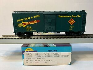 HO Athearn Blue Box 40' Boxcar Toledo Peoria and Western, TP&W #634