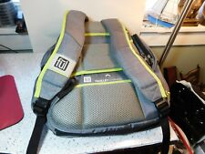Ful Trolley Channel Padded Gray & Green BackPack Laptop Tablet Computer Book Bag