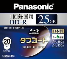 Made in Japan Panasonic BD-R Bluray Disc 25GB 6x Speed Inkjet Printable x 20