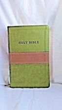 THE KING JAMES VERSION GIANT PRINT Red Letter Reference Edition Olive on Tan