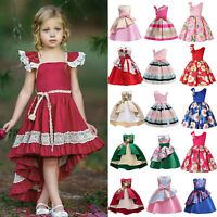Kids Flower Girl Dress Princess Pageant Party Bridesmaid Wedding Tutu Dresses