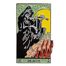 Death Tarot Card Enamel Pin Gothic Punk Witch Retro Badge Lapel