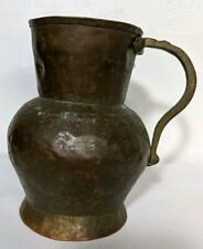 Antique Copper Mug / Jug / Tankard Dovetailed Early 1800's Hammered  W/ Handle