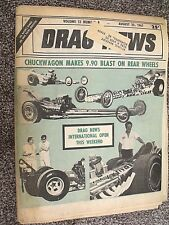 DRAG NEWS~8/25/1967~CHUCKWAGON'S 9.90 BLAST ON REAR WHEELS~MR NORM VS JUNGLE JIM