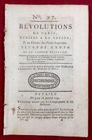 Bretagne en 1790 Rennes Vannes Péronne Révolution Française Révolutions de Paris