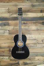Savannah SGP-12-BK 0-Style Acoustic Guitar, Black DAMAGED #D2552