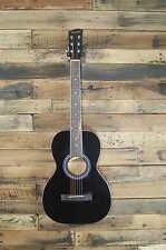 Savannah SGP-12-BK 0-Style Acoustic Guitar, Black DAMAGED #D2552