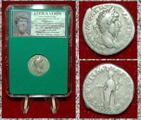 Roman Empire Coin LUCIUS VERUS Aequitas On Reverse Silver Denarius