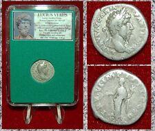 Roman Empire Coin LUCIUS VERUS Aequitas With Scales Reverse Silver Denarius