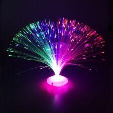 "Glasfaserlampe ""UFO"" Glasfaser-Lampe Leuchtfaserlampe Retrolampe Dekolampe 30 cm"