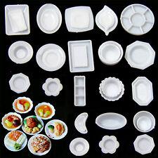 HA New 33PCS Miniature 1:12 Scale Dollhouse Kitchen Tableware Plastic Plates