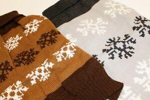 Hunde Pullover Wolle gestrickt - Motiv Schneeflocke - Größe L oder XL
