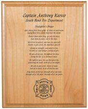 Personalized Engraved // 8x10 // Firefighter // Prayer Plaque // Free Shipping
