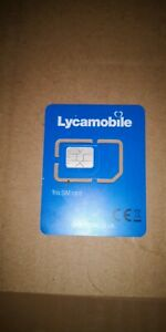100 x Lyca mobile Pay As You Go 4 G UK SIM Cards