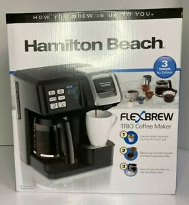 Hamilton Beach FlexBrew Trio Coffee Maker 2-way Single Serve and Full 12 Cup Pot