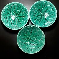 Vintage WEDGWOOD ETRURIA & BARLASTON Majolica Green Leaf bowl 1960s 3 available