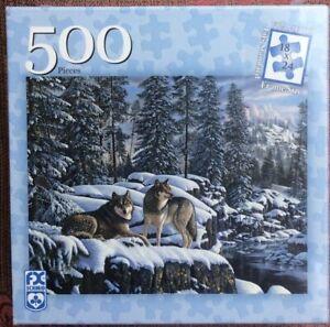 "Winter's Glory 500-Piece Jigsaw Puzzle (FX Schmid, 2006) Sealed 18"" X 24"""