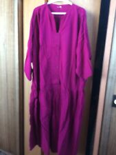 CMC Color Me Cotton 4X Magenta Dress (64 In Bust)