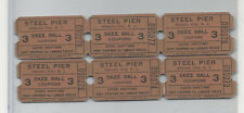 Vintage Lot 3 point Skee ball Steel Pier tickets Atlantic City FREE SHIPPING