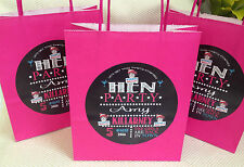 PERSONALISED HEN NIGHT PARTY BAGS, HENS NIGHT, PARTY AVAILABLE IN 12 COLOURS
