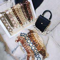 Luxury Acrylic Resin Bag Strap Lady Acrylic Chains Shoulder Belt Plastic Strap