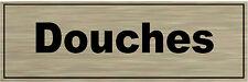 1 plaque aluminium brossé Signalétique de porte- Douches