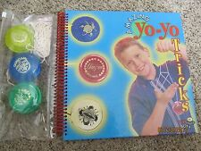 AMAZING  YO-YO TRICKS BOOK and 3 YO-Y0S