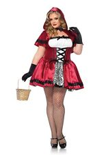 GOTHIC RED RIDING HOOD PLUS SIZE COSTUME SIZE 1X/2X (missing hooded cape)