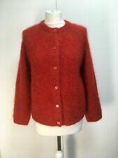 NEW Bellerose Ghalwa fuzzy mohair wool cardigan button up rusty orange 2 8 10