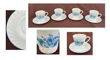 Vintage Corelle Dinnerware Add-On Replacement Cups Saucers Blue Velvet 8-Pc Set