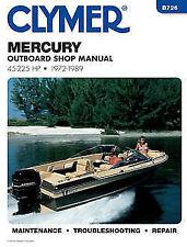 Mercury Marine 45-225hp 1972-1989 Outboard Motor Service Repair Shop Manual